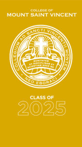 """Graphic called """"College of Mount Saint Vincent"""""""