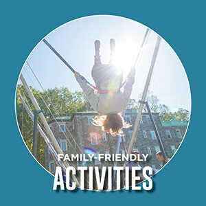 """Button saying """"Family-Friendly Activities"""""""
