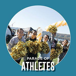 "Button saying ""Parade of Athletes"""