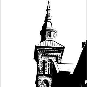 Cover of the Founders Hall coloring book.