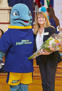 Susan R. Burns and Vinny the Dolphin